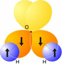 Explicación errónea de la molécula de agua